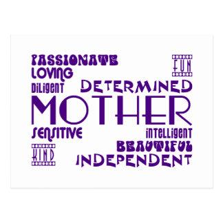 Moda femenina moderna y mamáes y madres elegantes postal