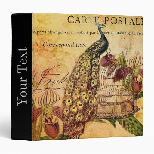 moda floral de París del pavo real del vintage