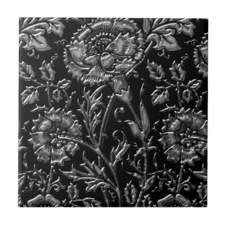 Moda floral de plata tejas