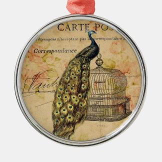 moda floral del vintage del pavo real femenino de ornamente de reyes