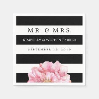 Moda floral personalizada casando servilletas servilletas desechables