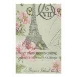 Moda floral retra femenina de París del vintage Papeleria