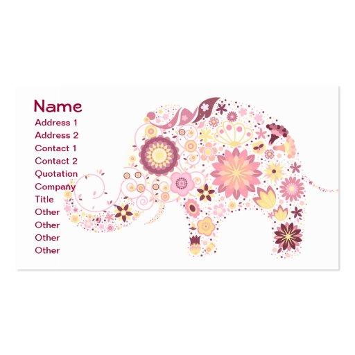Moda floral retra femenina linda fresca fina tarjetas de visita