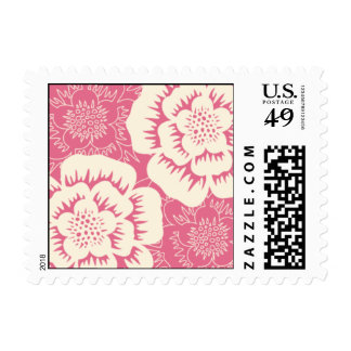 Moda floral subió sellos postales