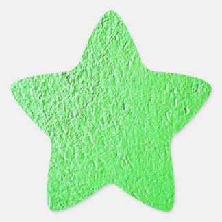 Moda fluorescente verde del estilo del diseño pegatina en forma de estrella