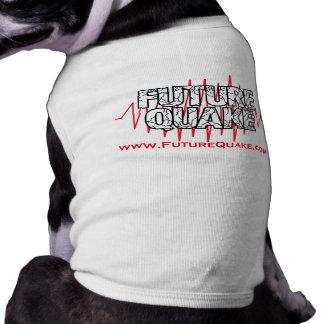 Moda futura recomendada pira del perro del temblor camiseta de mascota