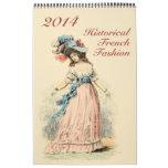 Moda histórica impresa personalizado del francés d