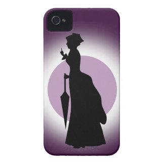 Moda histórica: Mujer Blackberry de la lluvia iPhone 4 Case-Mate Cárcasas
