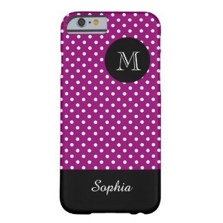 MODA IPHONE6 CASE_WHITE/226 WINE/DOTS FUNDA DE iPhone 6 BARELY THERE