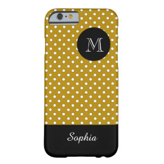 MODA IPHONE6 CASE_WHITE/44 GOLD/DOTS FUNDA DE iPhone 6 BARELY THERE