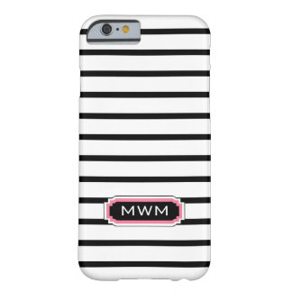 MODA IPHONE 6 CASE_BLACK/WHITE/PINK FUNDA DE iPhone 6 BARELY THERE