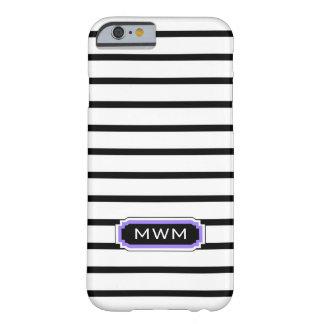 MODA IPHONE 6 CASE_BLACK/WHITE/PURPLE FUNDA PARA iPhone 6 BARELY THERE