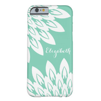 MODA IPHONE CASE_MODERN FLORAL_WHITE EN LA MENTA FUNDA PARA iPhone 6 BARELY THERE