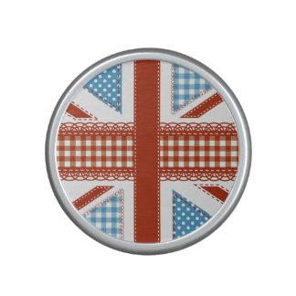 moda lamentable, bandera británica, remiendo, altavoz