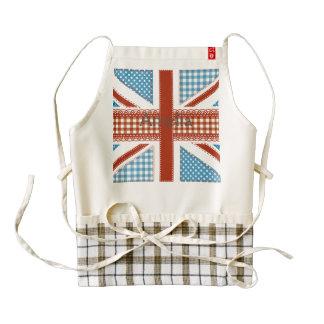 moda lamentable, bandera británica, remiendo, delantal zazzle HEART