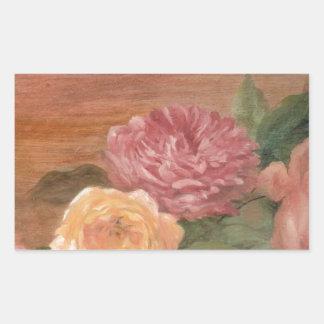 Moda lamentable de los rosas en colores pastel pegatina rectangular