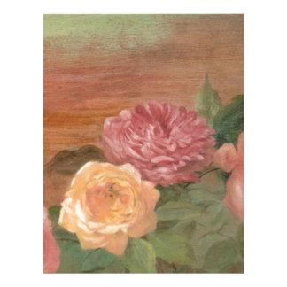 Moda lamentable de los rosas en colores pastel rom membretes personalizados