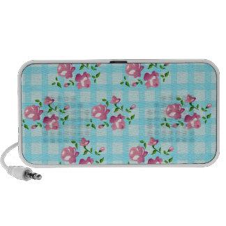 moda lamentable, decoración floral laptop altavoces