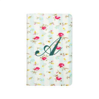 Moda lamentable, floral, linda, país, rojo, cuaderno grapado