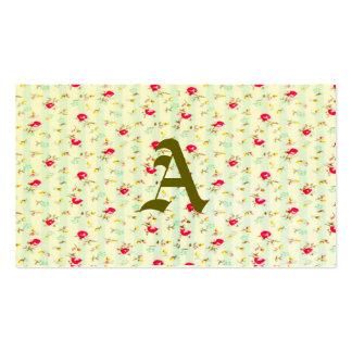 Moda lamentable, floral, linda, país, rojo, tarjetas de visita