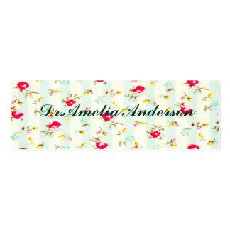 Moda lamentable, floral, linda, país, rojo, tarjetas de visita mini