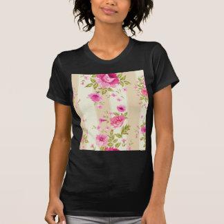moda lamentable, floral rosado, beige, vintage, camiseta