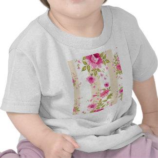 moda lamentable, floral rosado, beige, vintage, camisetas