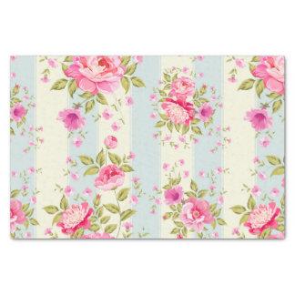 Moda lamentable, floral, vintage, rosa, azul, papel de seda pequeño
