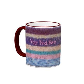 moda lamentable hecha punto colorida de la taza de dos colores