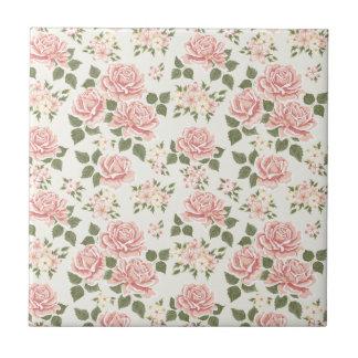 moda lamentable, jade, rosa, de moda, vintage, azulejo cuadrado pequeño