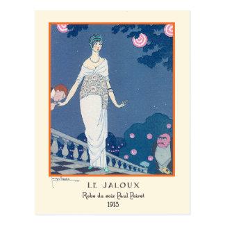 Moda Le Jaloux del art déco del vintage de Jorte Postales