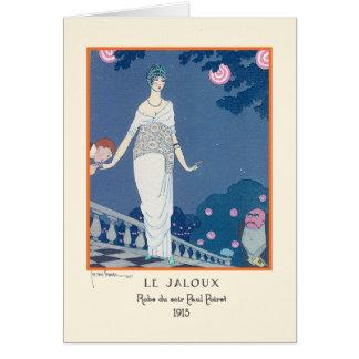 Moda Le Jaloux del art déco del vintage de Jorte Tarjeta De Felicitación