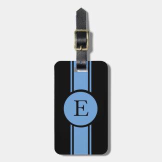 MODA LUGGAGE/BAG TAG_153 BLUE/BLACK/MONOGRAM ETIQUETAS DE MALETAS