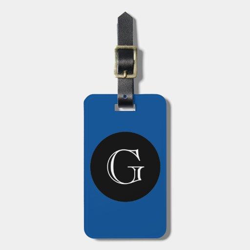 MODA LUGGAGE/BAG TAG_156 BLUE/BLACK/MONOGRAM ETIQUETAS MALETAS