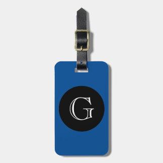 MODA LUGGAGE/BAG TAG_156 BLUE/BLACK/MONOGRAM ETIQUETAS PARA MALETAS