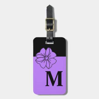 MODA LUGGAGE/BAG TAG_191 PURPLE/BLACK/MONOGRAM ETIQUETAS PARA EQUIPAJE