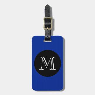 MODA LUGGAGE/BAG TAG_ 66 BLUE/BLACK/MONOGRAM ETIQUETA DE EQUIPAJE