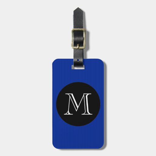 MODA LUGGAGE/BAG TAG_ 66 BLUE/BLACK/MONOGRAM ETIQUETAS PARA EQUIPAJE