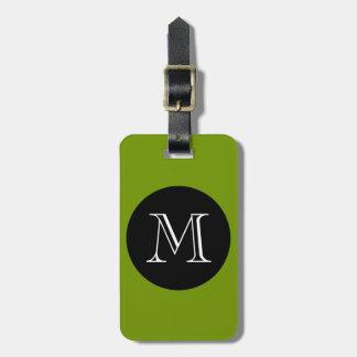 MODA LUGGAGE BAG TAG_66 GREEN BLACK MONOGRAM