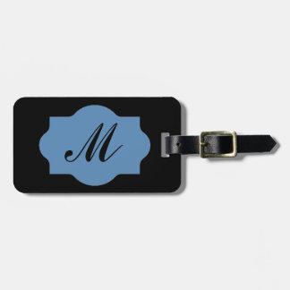MODA LUGGAGE/GIFT TAG_155 BLUE/BLACK ETIQUETA PARA MALETA