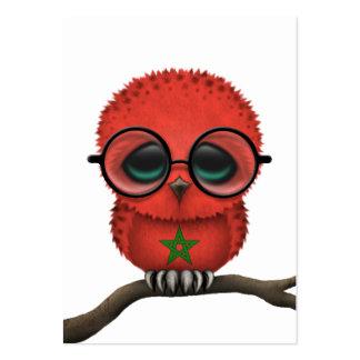 Moda marroquí Nerdy adaptable del búho del bebé Tarjetas De Visita Grandes
