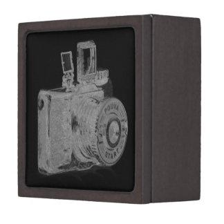 Moda media del arte de la cámara del formato cajas de joyas de calidad