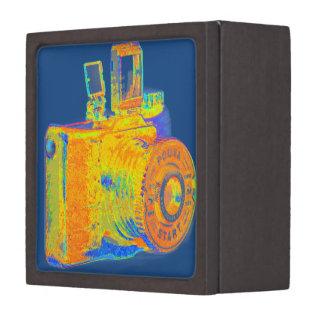 Moda media del arte de la cámara del formato cajas de recuerdo de calidad