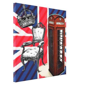 moda moderna de Londres de la cabina de teléfono d Impresiones De Lienzo