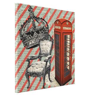 moda moderna de Londres de la cabina de teléfono d Impresiones En Lienzo Estiradas