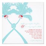 Moda moderna del boda tropical de la playa de las comunicados