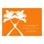 Moda moderna del boda tropical de la playa de las invitaciones personales