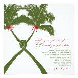 Moda moderna del boda tropical de la playa de las invitación personalizada