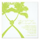 Moda moderna del boda tropical de la playa de las invitación 13,3 cm x 13,3cm