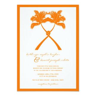 """Moda moderna del boda tropical de la playa de las invitación 5"""" x 7"""""""